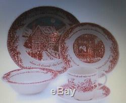Johnson Brothers Twas the night (4) 5 Piece Place Settings Service for 4 -20 Pc