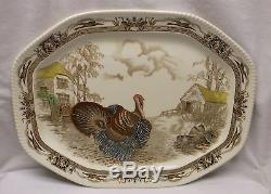 Johnson Brothers Vintage Barnyard King Turkey Platter