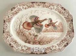 Johnson Brothers WILD TURKEYS 20 3/8 Oval Serving Platter 285685