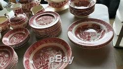 Johnson Brothers WILLOW PINK RED LOT CHEAP! . WHAT U SEE IS WHAT U GET