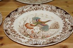 Johnson Brothers Wild Turkey (7) Dinner Plates, 10 5/8
