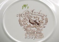 Johnson Brothers Wild Turkeys 4 SOUP BOWLS Windsor Ware, Native American, MINT
