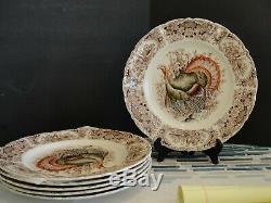 Johnson Brothers Wild Turkeys 6 Dinner Plates10 1/2