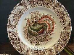 Johnson Brothers Wild Turkeys 6 Dinner Plates 10 1/2