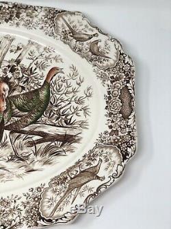 Johnson Brothers Wild Turkeys Native American Windsor Ware 20 Platter Excellent