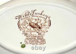 Johnson Brothers Wild Turkeys OVAL SERVING VEGETABLE BOWL Windsor Ware EXCELLENT