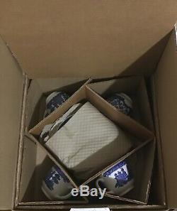 Johnson Brothers Willow Blue 20 Piece Set New In Box