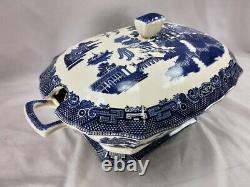 Johnson Brothers Willow Blue Large Oval Tureen And LID