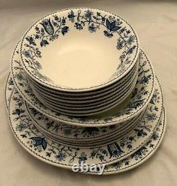 Johnson Brothers Windsor Ware Blue Floral 15 Assorted Pieces