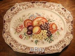 Johnson Brothers Windsor Ware Harvest Fruit Large Serving Platter