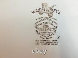 Johnson Brothers Windsor Ware Wild Turkeys 20 Platter
