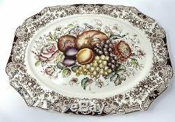 Johnson Brothers of England Windsor Ware Harvest Fruit Turkey Platter