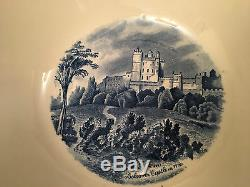 Johnson Brothers round vegetable / soup serving bowl in Old Britain Castles Blue