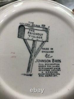 Johnson brothers friendly village covered bridge 109 piece set