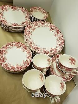 Johnson brothers strawberry fair, 8 piece place setting, complete