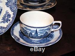 Kaffeeservice Johnson Bros England Old Britain Castles blau top