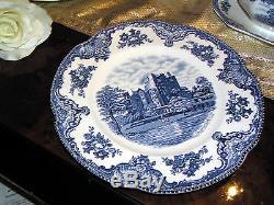 Kombiservice Kaffeeservice + Speiseservice Johnson Bros Old Britain Castles blau