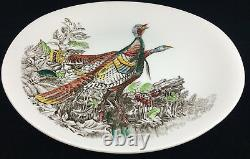 Large Oval Dinner Plate Wild Turkey Johnson Brothers Game Birds Cream England
