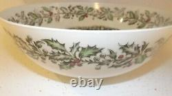 Large Vintage Johnson Brothers Merry Christmas 12 Punch Salad Serving Bowl