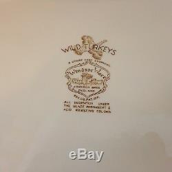 Large Vtg Windsor Ware Wild Turkeys Johnson Brothers England Platter, 20
