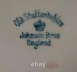 Lichfield Gravy Boat & Underplate Johnson Brothers England Old Staffordshire (O)