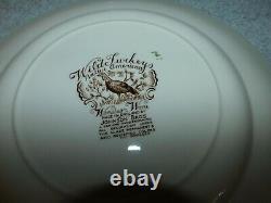 Lot of 8 Johnson Bros. Windsor Ware Wild Turkeys Dinner NATIVE AMERICAN