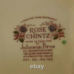 Lovely Johnson Bros Huge Rose Chintz Soup Tureen