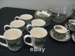 MINT 65 PC SET JOHNSON BROTHERS FRIENDLY VILLAGE MADE IN ENGLAND 12 dif dinner