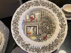Merry Christmas Johnson Bros 36 piece dining set
