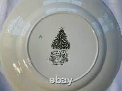 Merry Christmas Johnson Brothers Set of 4 Dinner / Buffer Plates 10 3/4