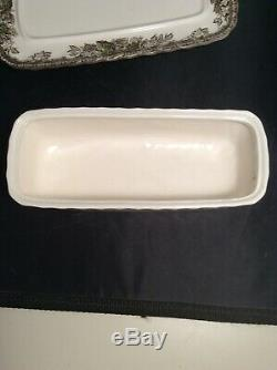 NEAR MINT Johnson Brother's Friendly Village ENGLAND Vintage Butter Dish