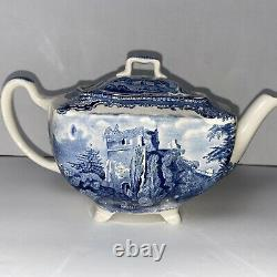 Old Britain Castles Blue by Johnson Brothers England teapot with lid EXCELLENT