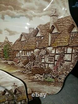 Olde English Countryside Brown Multi-color by Johnson Brothers Lot of 22