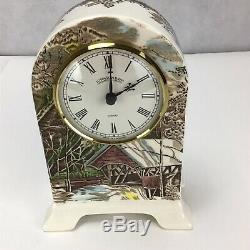 RARE Johnson Brothers Friendly Village Pattern Small Porcelain Clock