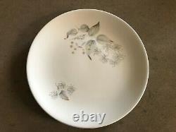 RETRO DINNER SET 6-Settings Johnson Bros. Made in England -Grey Floral design