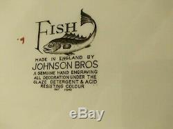 Rare Fishjohnson Brothersoval 25 3/4 Fish Platter