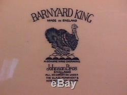 Rare Johnson Brother's Barnyard Kingturkey Platter In Mint Condition