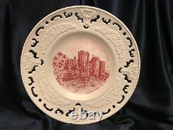 Rare! Set of 4 Johnson Bros Old Britain Castles Cut Lace Cabinet Platters 10.5D