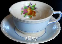 SET OF 6 Johnson Bros. FRUIT Teacups & Saucers MULTI COLORS Old English ENGLAND