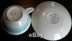 SET OF 6 Johnson Bros. FRUIT Teacups & Saucers MULTI COLORS Old English ENGLAND