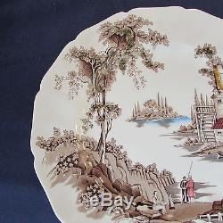 SET OF TWELVE Johnson Bros THE OLD MILL Service Plates