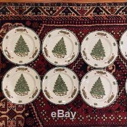 Set 12 Johnson Bros China England Victorian Christmas Plates 10-1/4 Christmas