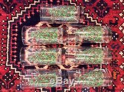 Set 7 Johnson Bros England Victorian Christmas 14 Oz Tumblers 6-1/4 Christmas