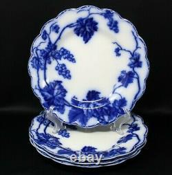 Set Of 4 Johnson Bros. England Flow Blue Warwick 10 Dinner Plates #1