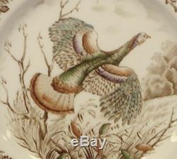 Set Of 4 Johnson Brothers Thanksgiving China Wild Turkeys Dinner Plate 10.75