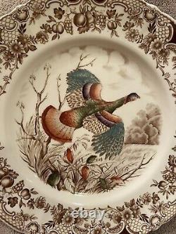 Set Of 4 Johnson Brothers Windsor Ware Wild Turkeys Dinner Plates