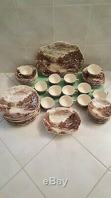 Set Of Vintage Olde English Country Side England Johnson Bros Plates