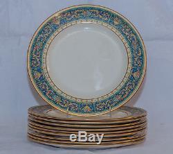 Set of 10 Johnson Bros. Pareek Gilded Dinner Plates