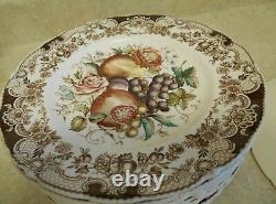 Set of (12) Johnson Brothers Windsor Ware HARVEST FRUIT Dinner Plates
