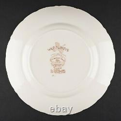 Set of 4 Dinner Plates, Wild Turkeys Brown by Johnson Bros, #5